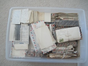 Assorted letters from my grandparents during the years 1942-1946