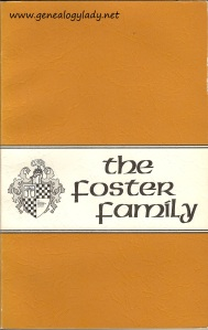 The Foster Family, by The American Genealogical Research Institite, 1973.