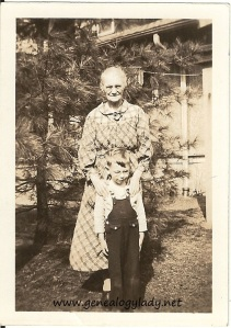 Emma Foster with her grandson John, circa 1935-36