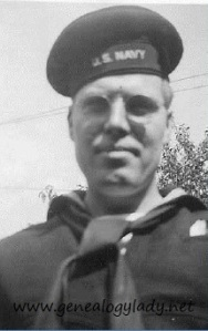 James L. Foster in his sailor uniform. Photograph courtesy of Gerry McCarroll.