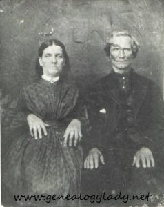 Joseph & Cassandria, photograph provided by a long lost cousin, circa 1860s (If you are the owner of this photograph, please contact me so I may provide proper attribution.)