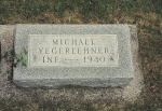 Gravestone for Michael Yegerlehner: Fairlawn Cemetery, Kentland, Newton, Indiana, USA