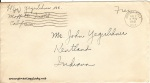 August 1, 1942 (postmark 8/2) envelope addressed to John Yegerlehner