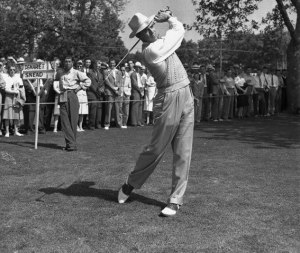 Sam Snead playing at the PGA championship in 1942 at Seaview, New Jersey