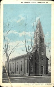 Postcard of St. Joseph's Church, Kentland, Indiana