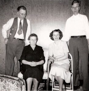 Forrest S. Kline, Sr. with his wife Gertrude and their children Helen (Kline) Heindel and Charles Kline, c. 1948 (Photograph courtesy of Karen Kline Brand)