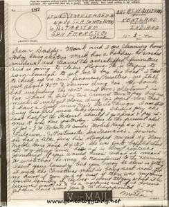 V-mail dated November 3, 1942