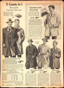 1942 Sears Fall catalog - Boys coats (Image from Ancestry.com)