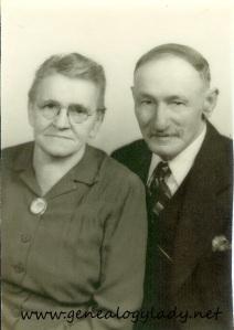 John and Lovina (Schiele) Yegerlehner (Roscoe's parents, c1946)