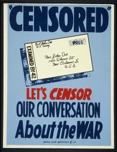 WPA Censorship Poster