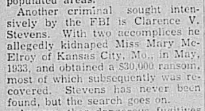 Newspaper clipping from January 1942