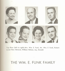 William E. Funk family - c1960