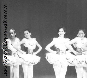 Ballet recital, early 1980s