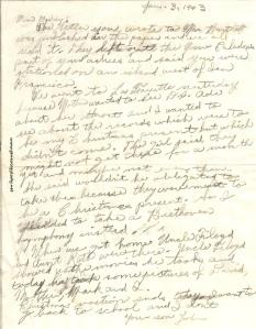 Letter from John - January 3, 1943