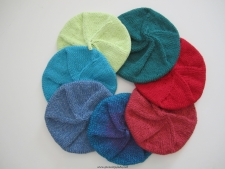 Berets knit by Deborah Sweeney