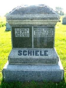 Schiele, Michael & Elizabeth (Krieble) - gravestone