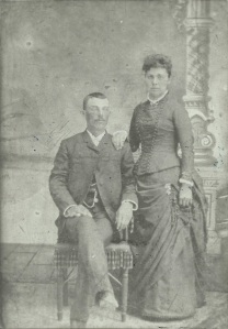 Nancy with her first husband, Theodore Walker, circa 1888 (Image courtesy of Jane Riley)