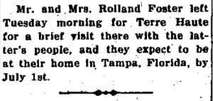 Foster, Rolland - 1925-06-24
