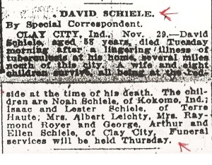 Schiele, David - Obituary, 1916 (cropped)