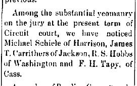 Schiele, Michael - Jury duty, 1889-04-12