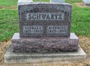 Schwartz, Nicholas & Barbara - gravestone