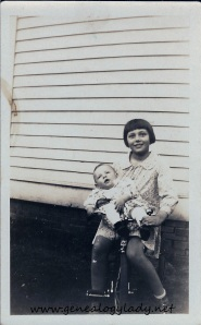 Unknown girl possibly holding John or Mark - Linton, Indiana, c1930s