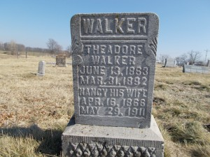 Walker, Theodore & Nancy - gravestone