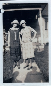 Foster, Gladys with unidentified female - c1920s