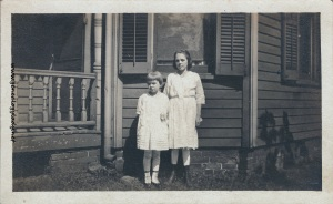 Foster, Gladys with unidentified girl - Terre Haute, c1918
