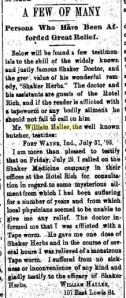Haller, William - Fort Wayne Weekly Sentinel, 1895-07-31
