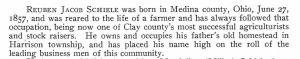 Schiele, Reuben J. - Clay co. history, p. 401