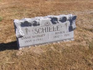 Schiele, Reuben & Lanah - gravestone