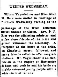 Yagerlehner, Wilson - 1899-11-16