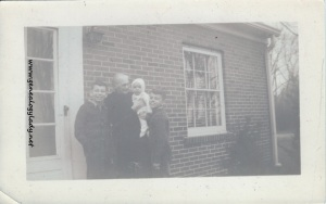 Emma with John, Mark & David, February 1943