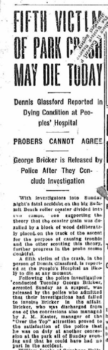 Roller Coaster accident - 1918-07-10, p. 1