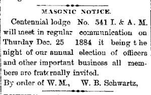 Schwartz, W. B. - 1884-12-11