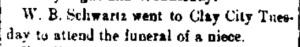 Schwartz, W. B. - 1889-08-08 Funeral