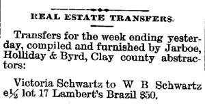 Schwartz, W. B. - 1889-08-08 Real Estate