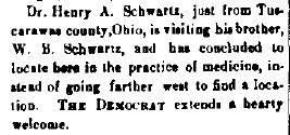 Schwartz, W. B. - 1890-05-29