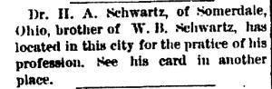 Schwartz, W. B. - 1890-06-11