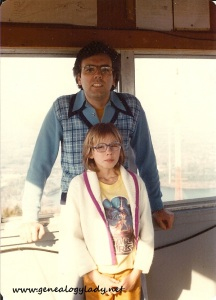 David with Deborah, circa 1978, Mt. Wachusett