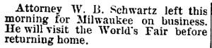Schwartz, W. B. - 1893-06-01