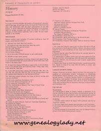 UMASS History Major requirements