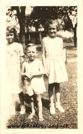 Yegerlehner, John with unknown girls - c1934-1935
