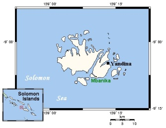 Russell Islands  Image by Kelisi at Wikipedia.com (Wikipedia Commons license)