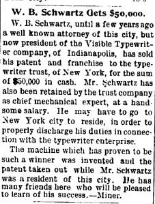 Schwartz, W. B. - 1899-07-06