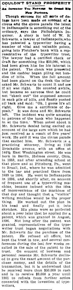 Schwartz, W. B. - 1899-10-17