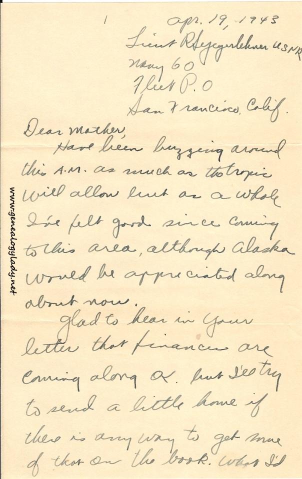 April 19, 1943, p. 1