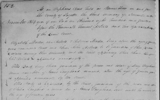 Laughead, Elisha & Mary - Guardians appointed, November 1814