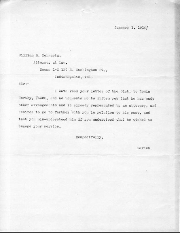 Schwartz, W. B. - 1910-01-01 Letter